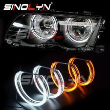 Crystal LED Angel Eye Dual Colors For BMW E36 E38 E39 E46 M3 HID Xenon Headlight