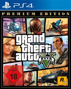 GTA 5 Grand Theft Auto V Premium Edition (PS4) (NEU OVP) (UNCUT) (Blitzversand)