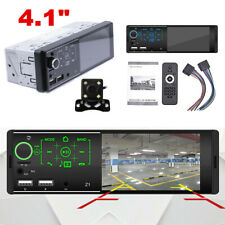 Single 1DIN 4.1in Car MP5 Player Bluetooth Touch Screen Stereo Radio w/Camera