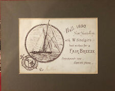 Antique postcard from 1890