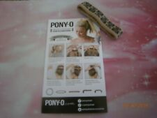 (1) ONE PONY-O Hair Tie Band Clip NEW!**Sandy Beach w/ Black Ink**