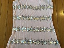 INC International Concept Sequin Embellished Tank Top Pink Size Small S Rayon