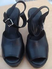 Urban Outfitters Black Platform Sandals Size 39 Out From Under RRP £70