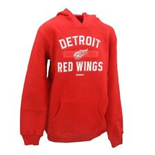 Detroit Red Wings Official NHL Reebok Kids Youth Size Hooded Sweatshirt New Tags