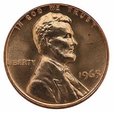 1965 Lincoln Memorial Cent Penny Gem SMS Special Mint Set Mint Coin Uncirculated