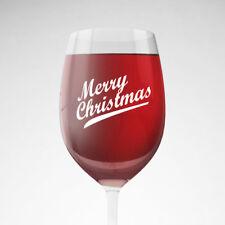 9x feliz Navidad Navidad Fiesta Decoración calcomanías Autoadhesivos Vino Champán Vidrio