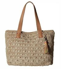 28de416d1 NWT The Sak Fairmont Crochet Tote Shoulder Bag Gold & Beige MOTHERS Day  Gift 🎁