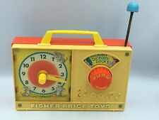 Vintage 1971 FISHER PRICE Réveil Musical Horloge HICKORY DICKORY DOCK #107