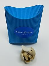 ADAM BINDER PALM EDITIONS WHITE PLATYPUS WITH BABY FIGURINE CHARM NIB