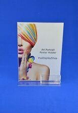 A4 Portrait Double Sided Menu / Poster Holder + Business Card Holder PDS8043BCH