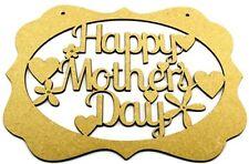 Happy Mother's Day Plaque - MDF Blank Laser Cut Mum Mummy Nanny Nan Grandma