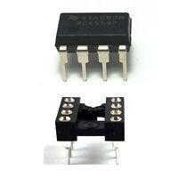 1PCS Texas Instruments RC4558 + Socket Dual Operational Amplifier DIP-8 - New IC