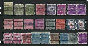 PRECANCELS: Small Baltimore dated lot - handstamped, printed and integral
