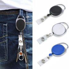 Retractable Lanyard Reel Recoil Keyring Key Clips ID Badge Key Holder Magic New