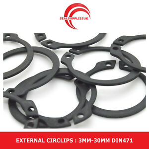 External Circlips (C-Clip) Various Sizes: 3MM-30MM DIN471 - UK SUPPLIER