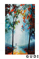GUDI-Modern Simple Hand-Painted Oil Painting Decorative Art Landscape Unframed