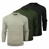 Mens Jumper Brave Soul Origins Chevenron Crew Neck Knitted Sweater