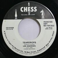 Rock 45 Lee Andrews - Teardrops / Long Lonely Nights On Chess