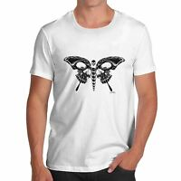 Twisted Envy Skull Butterfly Men's Funny T-Shirt