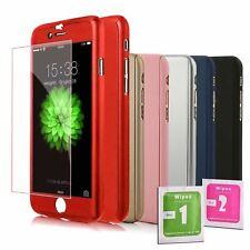 Cover fronte retro per IPHONE 5 5S SE 6 6S 7 8 PLUS X XS +Vetro Temperato Colori