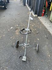 Vintage Aluminum Ajay Roll King Deluxe Golf Cart Bag Caddy Push Pull Cart USA