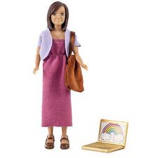 Puppe Mutter Puppenhaus Lundby mit Laptop und Tasche