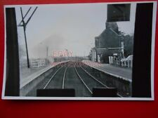 PHOTO  SOMERLEYTON RAILWAY STATION FROM EAST 25/4/85 VIEW FROM CAB