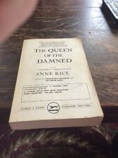 RARE FIND COLLECTIBLE PROOF 1 ED VAMPIRE CRONICLES ANNE RICE QUEEN OF THE DAMMED
