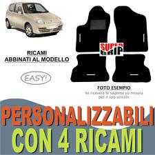 TAPPETINI AUTO SU MISURA PER FIAT SEICENTO 600 MOQUETTE E GOMMA + 4 RICAMI EASY