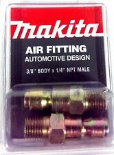 "Makita 3/8"" body x 1/4"" NPT M-AUTO Air Fitting YY311016-A 2pk *Made In The USA*"