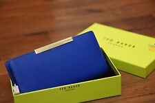 Ted Baker DARRAH Blue Crosshatch leather purse BNWT