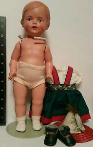 Vintage CELLULOID Girl Doll SCHILDKROT  TURTLE Mark 34 Excellent + CLOTHES