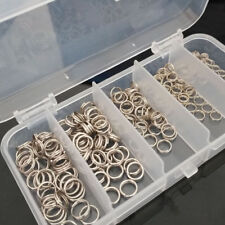 200pcs 4-7mm Stainless Steel Fishing Tackle Split Rings For Fish Snap Connector
