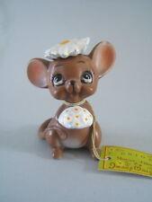 Vintage Josef Figurine 2 3/4'' Mouse Village Bride