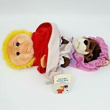 Vintage Caltoy Little Red Riding Hood & Wolf Reversible Two In One Puppet W Tags