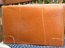 Vintage Leather Suitcase Luggage Made by Hanco MADE in USA
