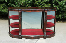 Victorian Rosewood Console Foyer Etagere Hall Table Credenza Carved Fruit c1865
