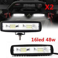 2X80W Flood Flush Mount LED Work Light Bar Fog Lights Pod off Road SUV Jeep Lamp