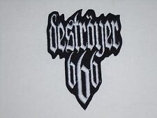 DESTROYER 666 BLACK/THRASH METAL IRON ON EMBROIDERED PATCH