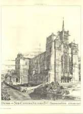 1893 Design For New Cathedral, Victoria British Columbia H Wilson