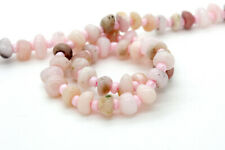 Natural Pink Opal Nuggets Rough Cut Irregular Shape Smooth Loose Gemstone Beads