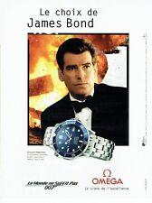 PUBLICITE ADVERTISING 126  1999  Omega montre & Pierce Brosnan  James Bond 007