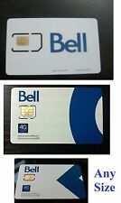 Activated Bell Canada i sim card 4g LTE GSM cell phone prepaid go nano micro pin