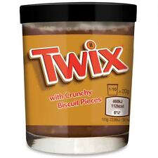 2x TWIX Chocolate Caramel Flavored Spread & Crunchy Biscuit Pieces 400g (2x200g)