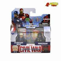 Marvel Minimates Series 67 Civil War Movie Secretary Ross Variant & Mercenary