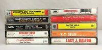 Lot of 10 Cassette Tapes ~ 80's, 90's, Country, Folk, World, Female