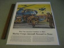 Helicopters Marine Corps Aircraft 1956 ad advertisement