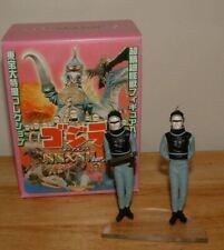 """2004 IWAKURA 3"""" Tall 1965 XILIEN/XIAN CREW Mini HG Figure Gashapon Godzilla"""