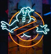 "GhostBuster Ghost Neon Lamp Sign 17""x14"" Bar Light Glass Artwork Display"