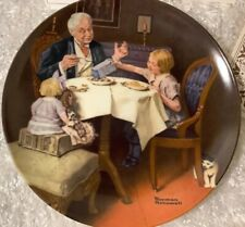 """Norman Rockwell""""The Gourmet� Limited Edition Plate. Original Box Coa (See Pics)"""